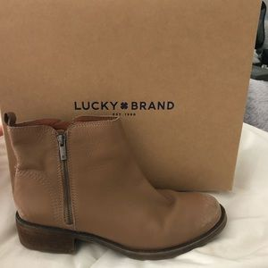Tan leather LUCKY BRAND BOOTIE